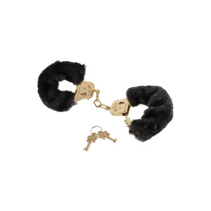 MANETTE FF GOLD DELUXE FURRY CUFFS