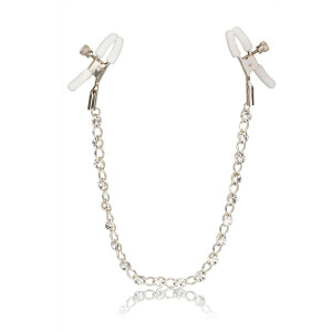 Crystal Chain Nipple Clamps SILVER