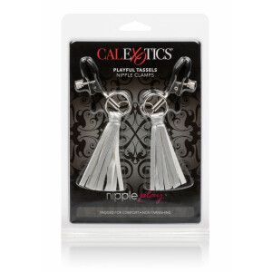 Playful Tassels Nipple Clamps SILVER