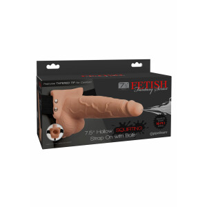 7.5in Hollow Squirting StrapOn SKIN