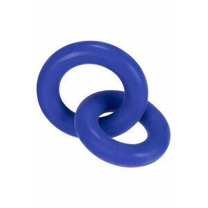 Duo Linked Cock & Ball Rings BLUE