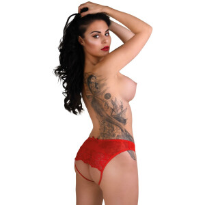 Nicolette crotchless panty - RED