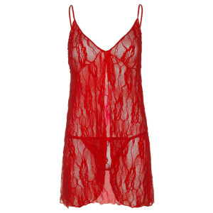 Rose Lace Babydoll - RED